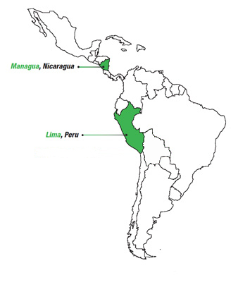 Responsive call center latin american locations map
